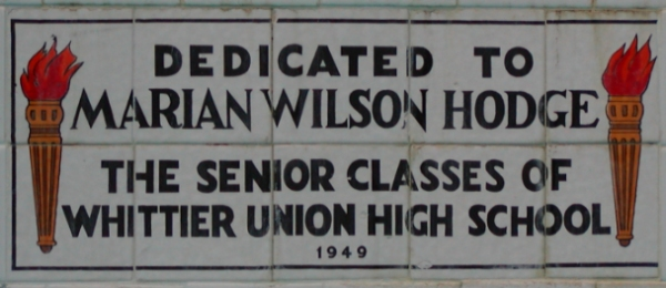 WHS-FountainPlaque